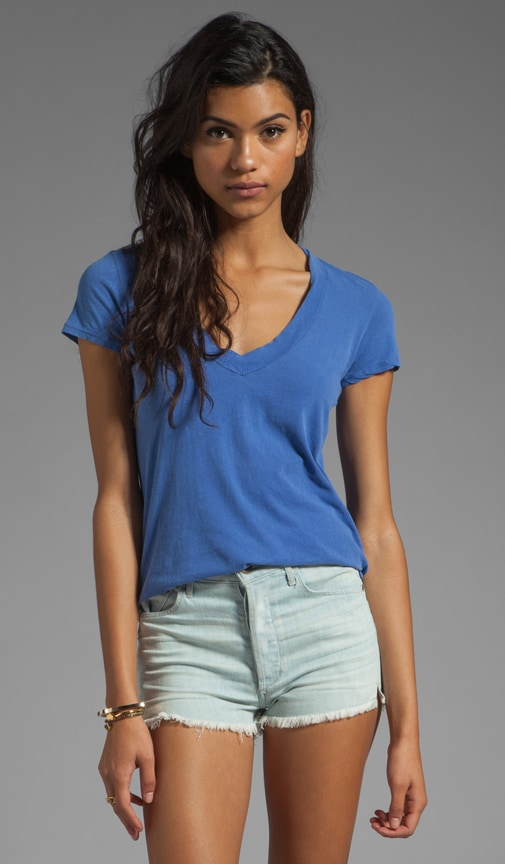 Short Sleeve Relaxed V-Neck Tee