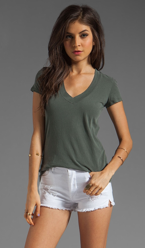 Short Sleeve Relaxed V-Neck