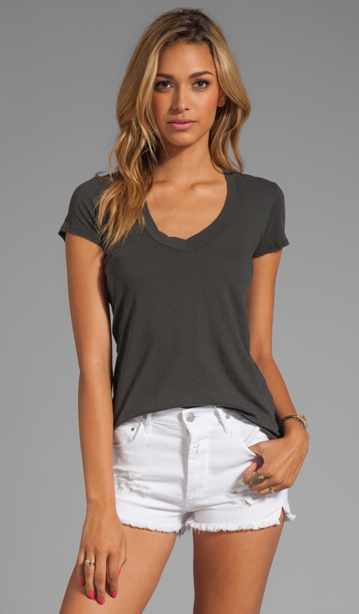 Relaxed Casual V Neck Tee