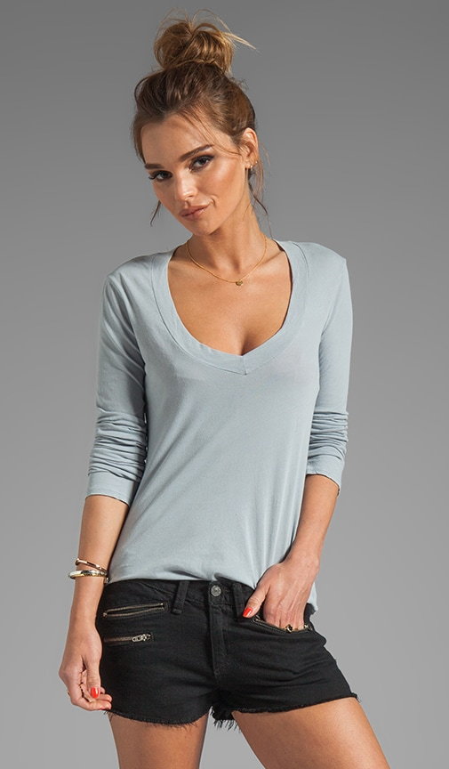 Relaxed Casual V Neck Top