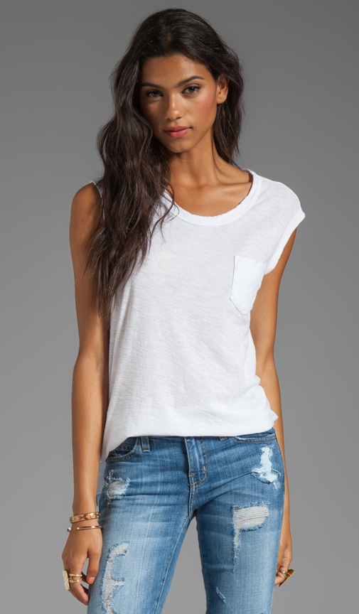 Sheer Slub Pocket Tee