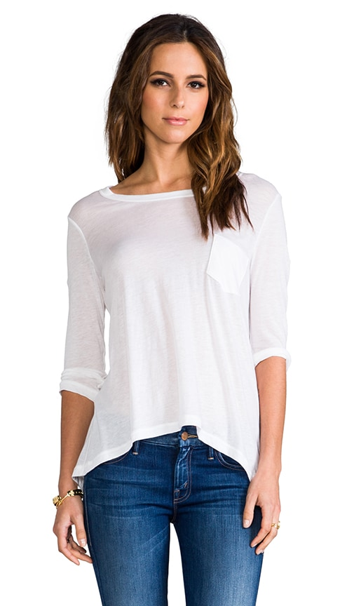 Cotton Cashmere Pocket Tee