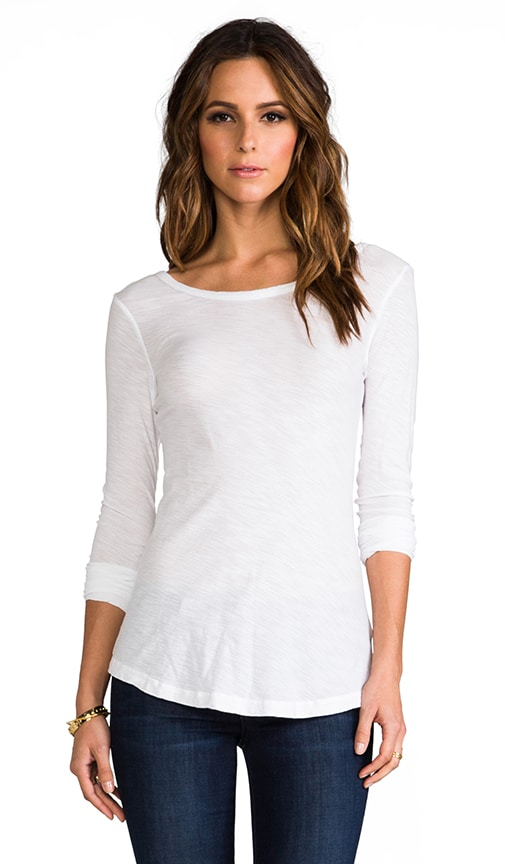 Sheer Slub Long Sleeve Tee