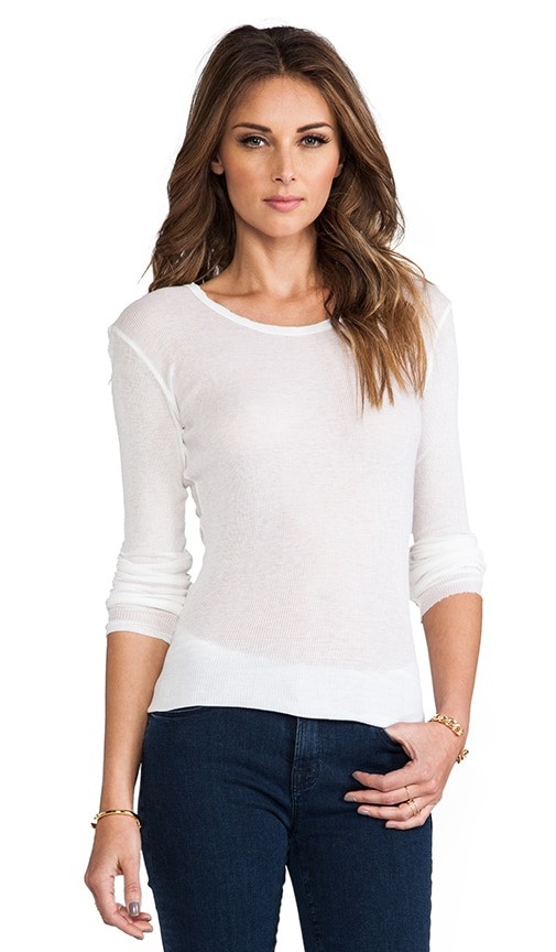 Cashmere Rib Long Sleeve Crew
