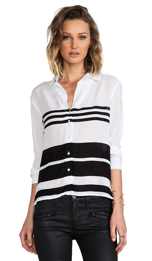 Relaxed Blanket Stripe Top