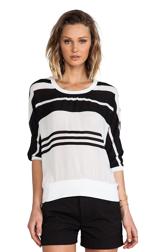 Striped Chiffon Sweat Shirt