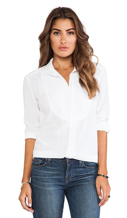 Cotton Gauze Tuxedo Shirt