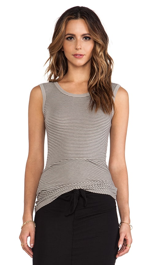 Tucked Stripe Ballet Tank