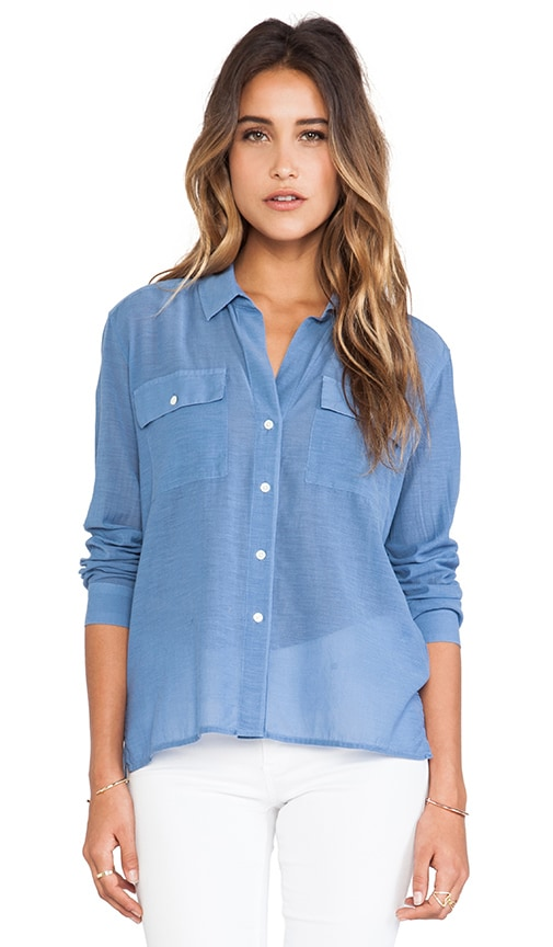Silk Blend Pocket Shirt
