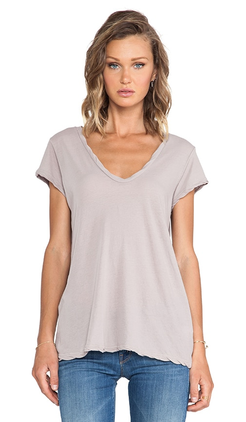 High Gauge Jersey Deep V Tee