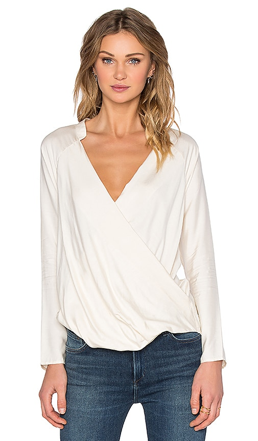 James Perse Wrap Raglan Top in Calico