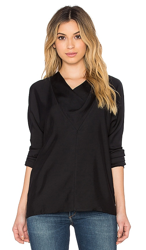 James Perse Triangular Cowl Top in Black