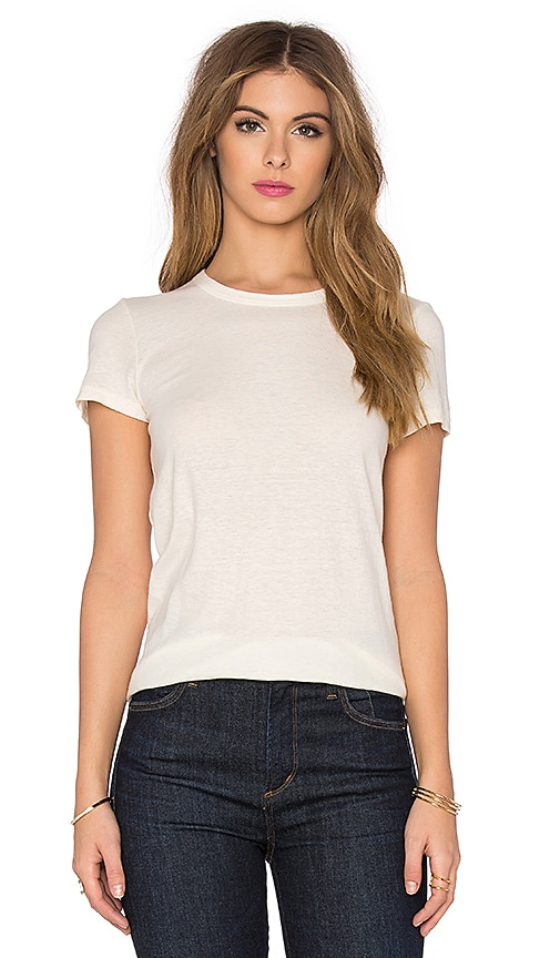 James Perse Textured Cationic Tee in Marshmallow