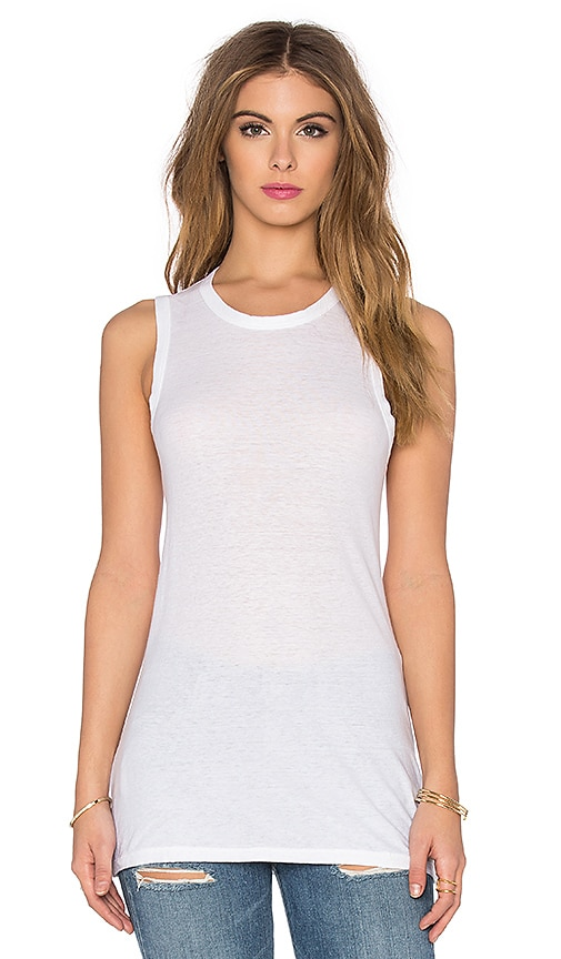 James Perse Textured Cationic Tank in White