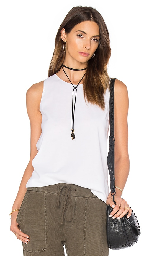 James Perse Wrap Back Tunic Top in White