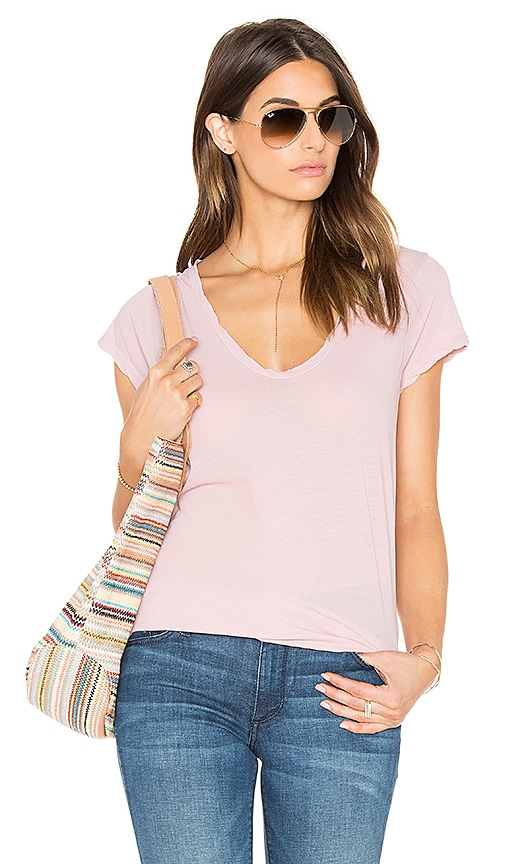 James Perse High Gauge Jersey Tee in Pink