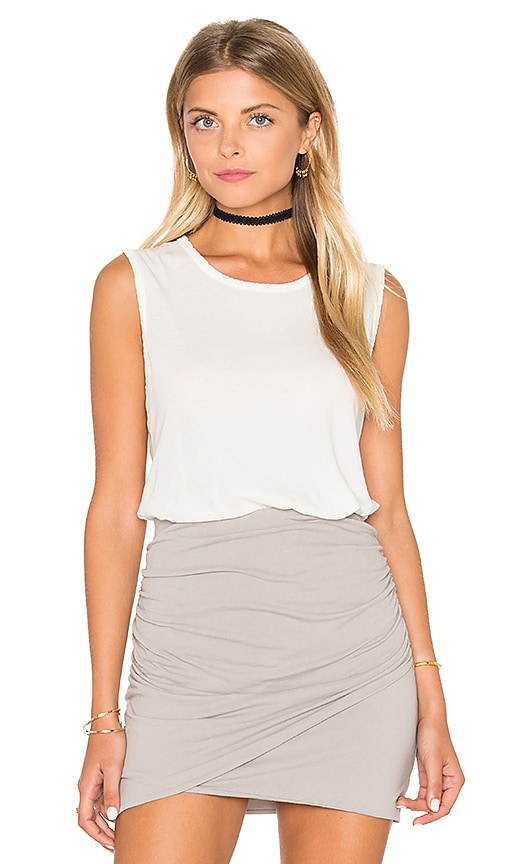 James Perse Classic Relaxed Tank in Ivory