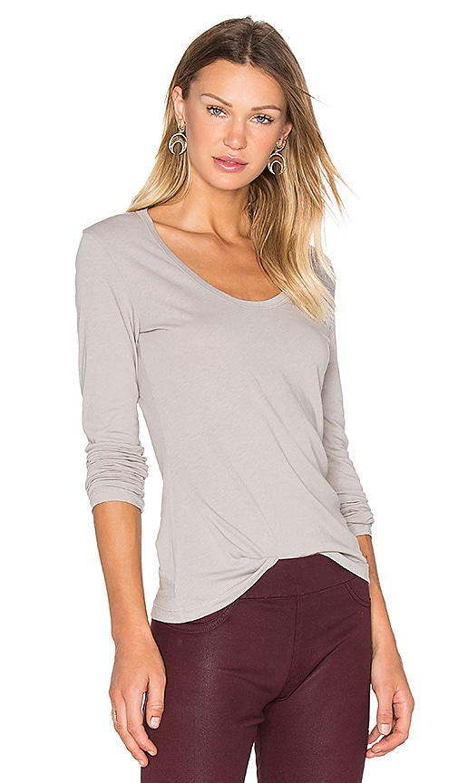 James Perse Extra Long Sleeve Tee in Gray