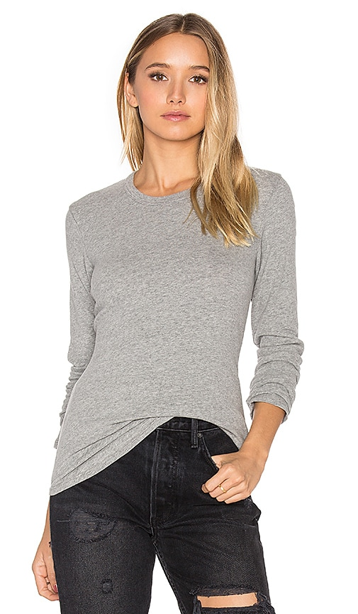 Brushed Jersey Long Sleeve Tee