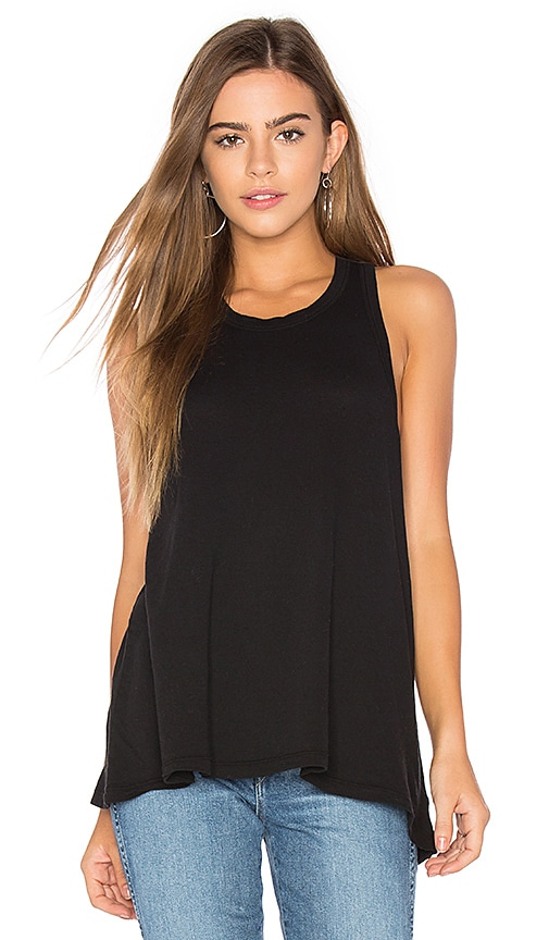 James Perse Jersey A-Line Tank in Black