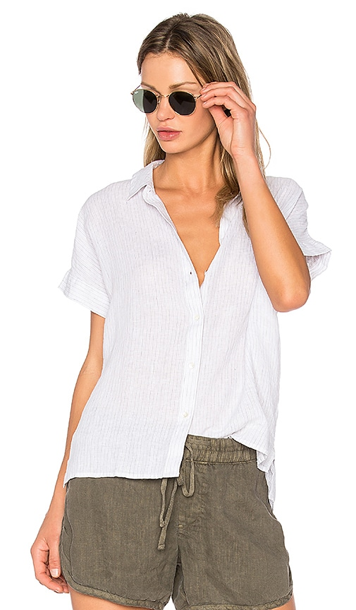 Short Sleeve Linen Button Up