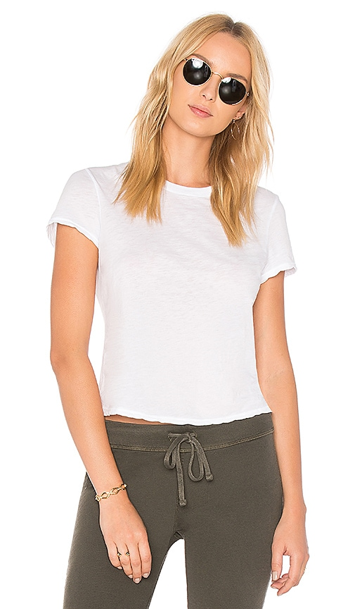 James Perse Feather Tee in White
