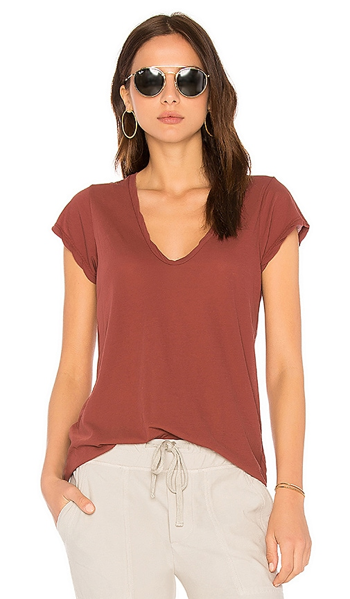 High Gauge Deep V Tee by James Perse