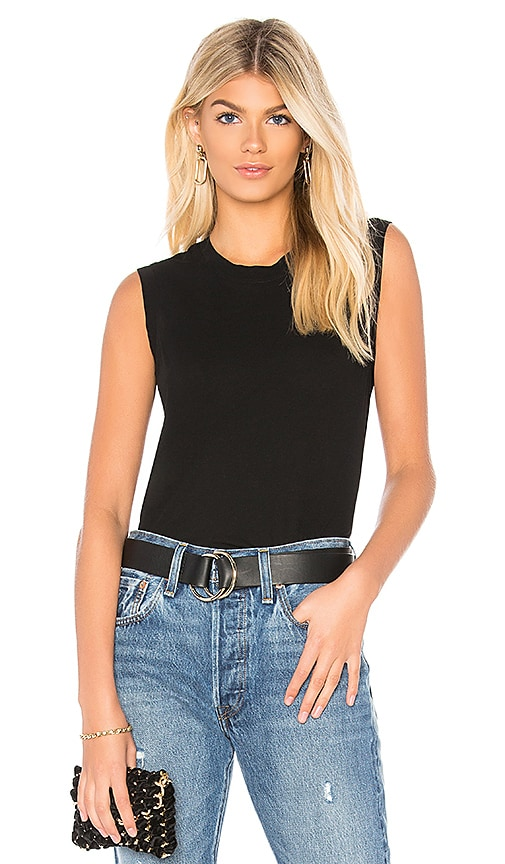 James Perse Easy Muscle Tank in Black