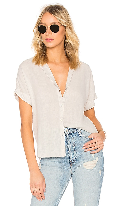 James Perse Side Panel Shirt in Light Gray