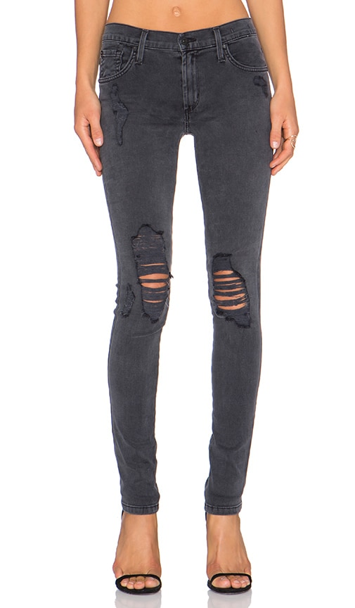 James Jeans James Twiggy Skinny in Slate Distrsessed