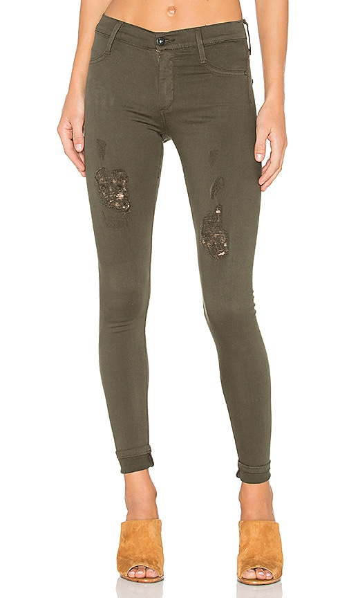 James Jeans Twiggy Dancer in Deep Army Distressed