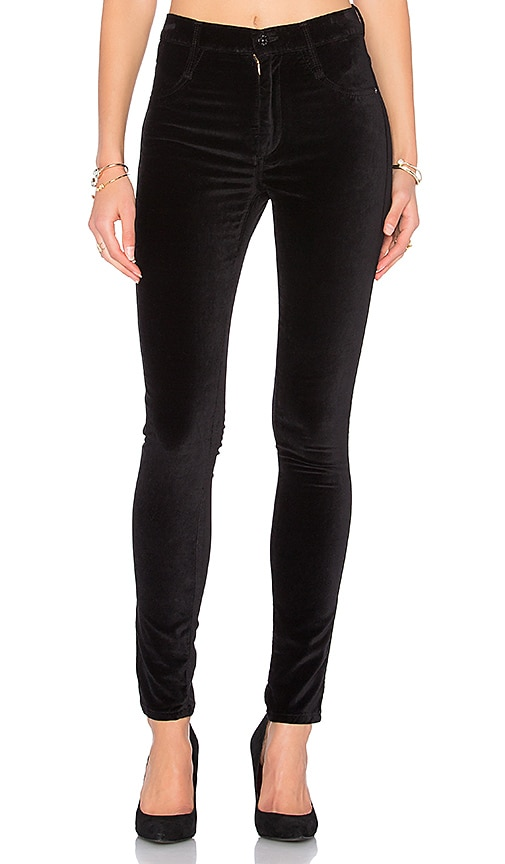 James Jeans High Class Velvet Skinny in Ebony