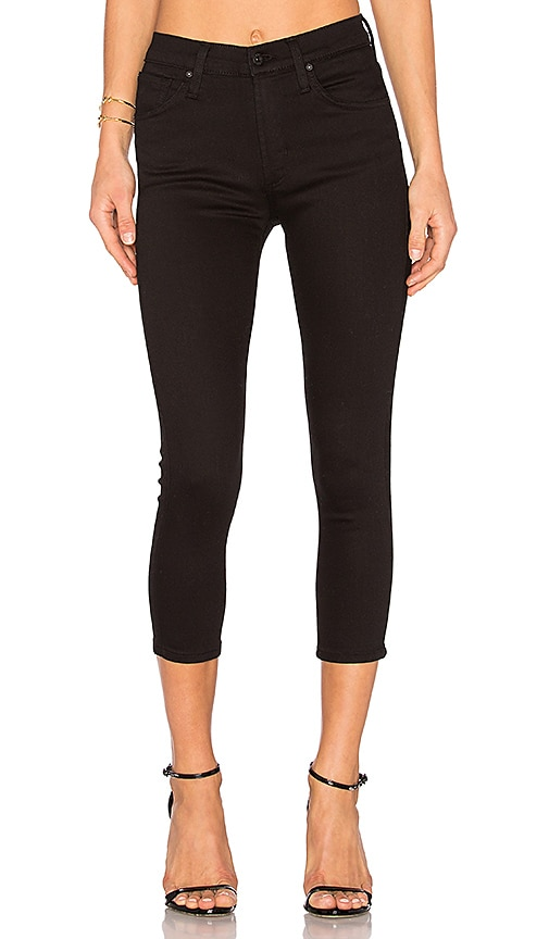 James Jeans High Class Crop Skinny in Flat Black