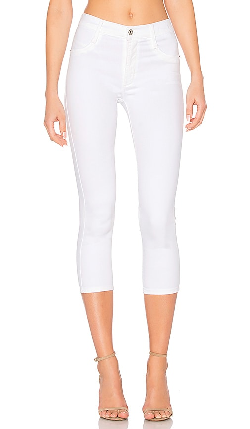 James Jeans High Class Crop Skinny in White Clean