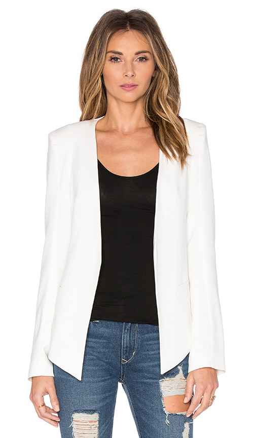 James Jeans V Boyfriend Blazer in White