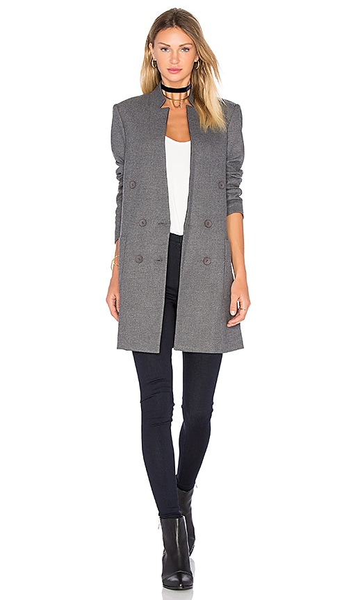 James Jeans Patch Pocket Straight Blazer in Gray