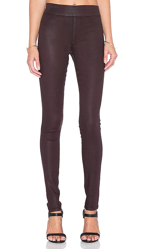 James Jeans James Twiggy Legging in Black Red Glossed