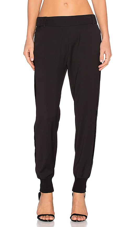 James Jeans Track Pant in Silky Black Tuxedo