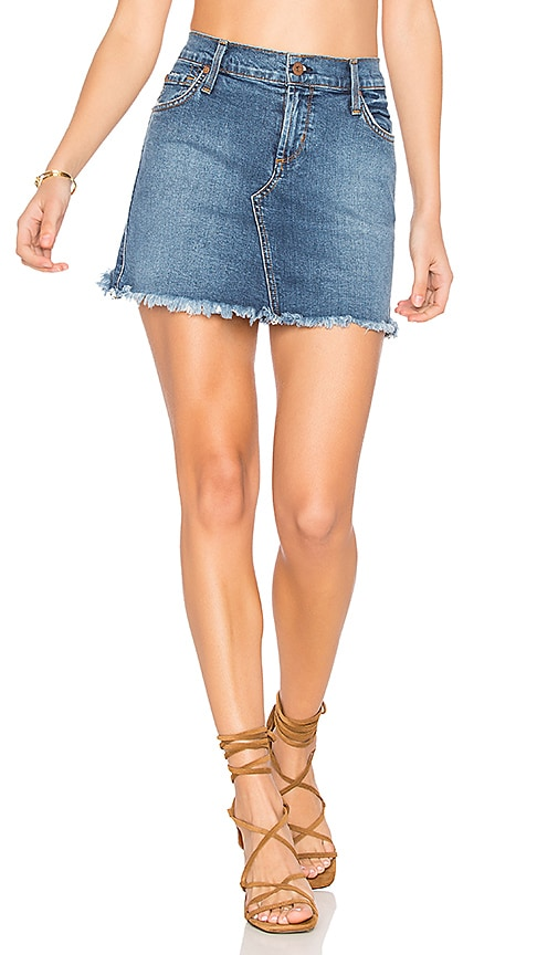 James Jeans Mia Cut Off Mini Skirt in Throwback Clean