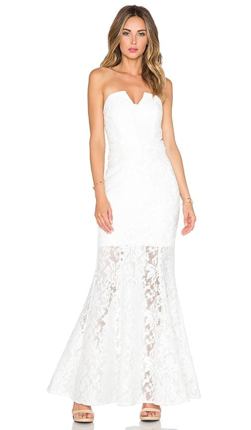 JARLO Annabel Maxi Dress in White