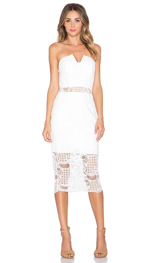 JARLO Charlotte Midi Dress in Ivory
