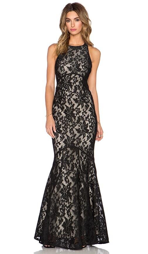 JARLO Carmelita Maxi Dress in Black Lace