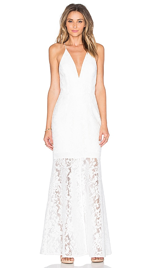 JARLO Cadence Dress in White