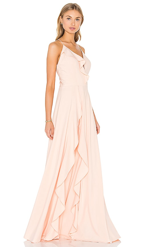 JARLO Blair Dress in Peach