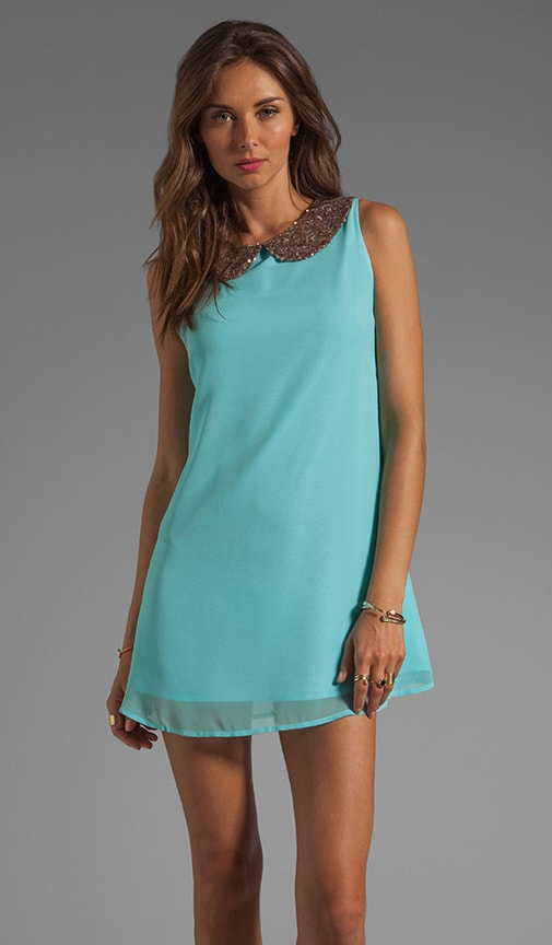 Lyndsay Sequin Collar Dress