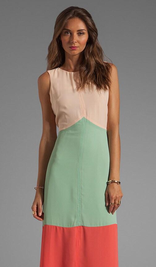 Jasmine Chevron Colorblocked Maxi Dress