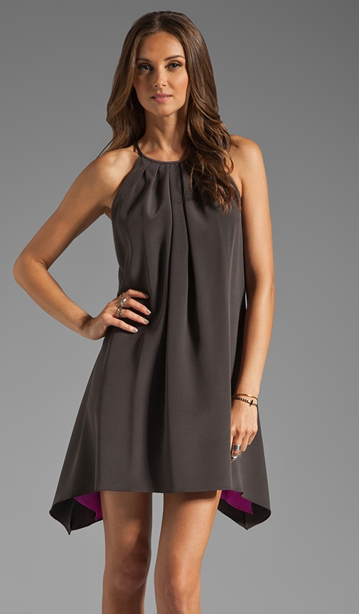Wells Pleated Neckline Dress
