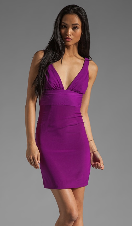 Yates Plunging V Neck Dress