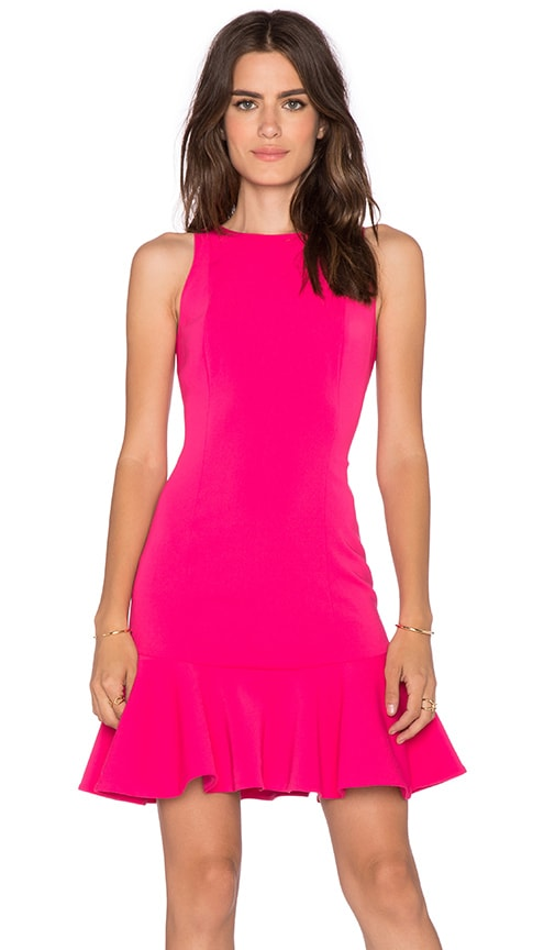 Jay Godfrey San Marino Dress in Bright Pink