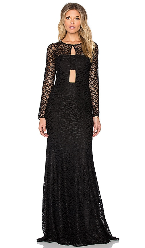 Jay Godfrey Dorval Maxi Dress in Black